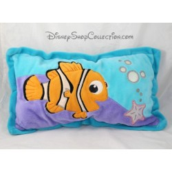 Coussin poisson Némo DISNEY Le Monde de Némo bleu rectangle 26 cm