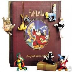 Livre Storybook Fantasia WALT DISNEY set 7 ornements figurines résine Story book 10 cm