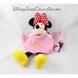 Sacoche Minnie DISNEYLAND PARIS rose banane peluche