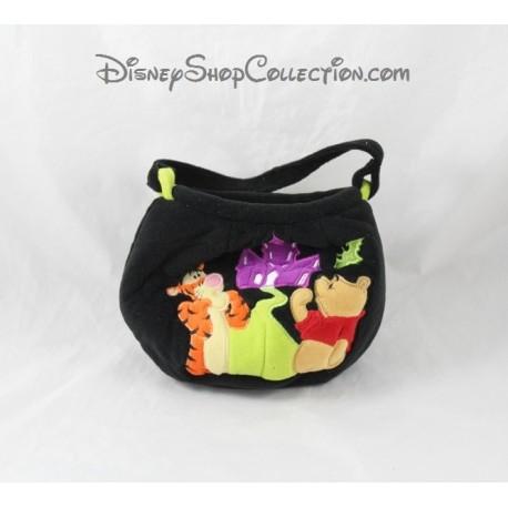 Winnie the Pooh DISNEY STORE halloween black Tigger velvet bag