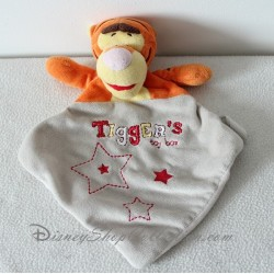 Doudou plat Tigrou DISNEY BABY Tigger's toy box orange gris 26 cm