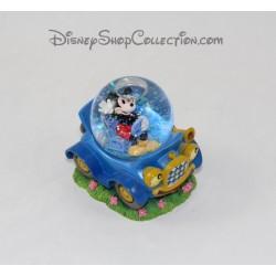 Snow globe Mickey DISNEY voiture bleue boule à neige 7 cm