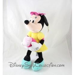 Peluche Minnie PTS SRL Disney robe jaune sucrerie gateau 43 cm