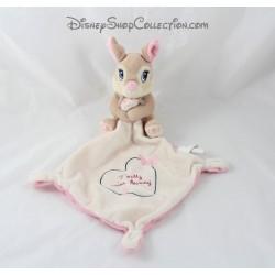 Doudou mouchoir lapin Miss Bunny DISNEY BABY Pretty Miss Bunny coeur papillon 38 cm