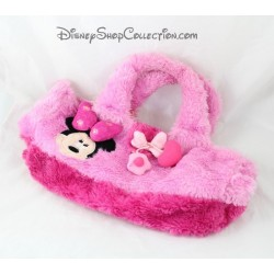 Sac à main peluche Minnie DISNEYLAND PARIS rose coeur