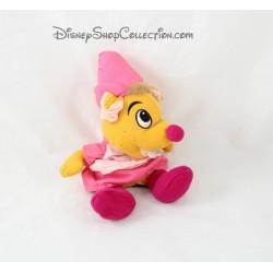 Plush Perla mouse DISNEY Cinderella seamstress Brown pink 20 cm