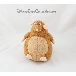 Peluche Emile rat DISNEY STORE Ratatouille Disney marron 18 cm