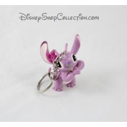 Porte clés Angel DISNEY Lilo et Stitch rose mauve figurine pvc 6 cm