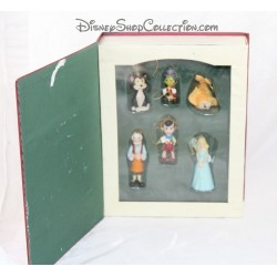 Book Storybook Pinocchio WALT DISNEY set 6 ornaments figurines resin Story book 10 cm