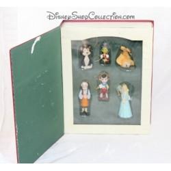 Livre Storybook Pinocchio WALT DISNEY set 6 ornements figurines résine Story book 10 cm