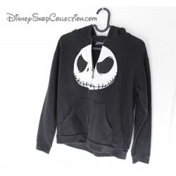 Chaqueta Jack Skellington Disney sudadera con capucha zip blanco y negro 12 años