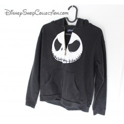 Veste Jack Skellington DISNEYLAND PARIS sweat zip noir et blanc 12 ans