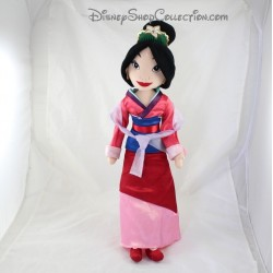 Doll plush Mulan DISNEY STORE dress pink satin Crown red 54 cm