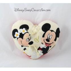 Coussin de mariage Mickey Minnie DISNEYLAND PARIS coussin alliances coeur 20 cm