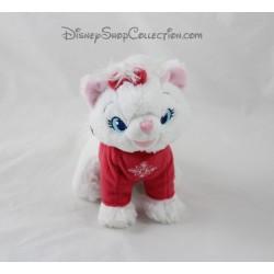 Plush cat DISNEY STORE node Marie Scottish sweater snowflake 17 cm