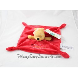 Doudou plat Winnie l'Ourson DISNEY STORE My First Christmas rouge Disney Baby