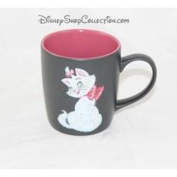 Mug mat chat Marie DISNEYLAND PARIS gris et rose pailleté tasse céramique