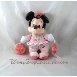 Peluche d'activité DISNEY BABY Minnie Mouse éveil rose 25 cm
