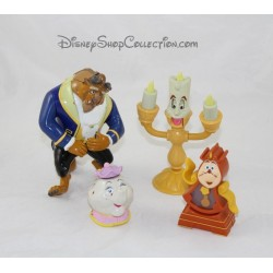 Lot de 4 figurines La Belle et la Bête DISNEY articulées Mcdo