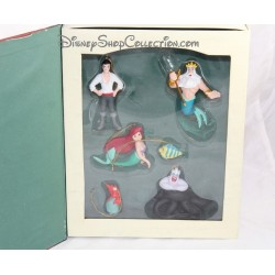 Book the Little Mermaid DISNEY Christmas Collection set 6 Storybook ornaments figurines resin Story book 10 cm