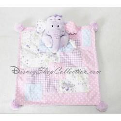 Peluche Bourriquet NICOTOY pyjama rose avec capuche âne Disney 23 cm assis