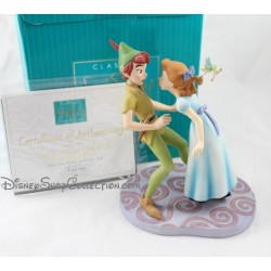 "Rare Disney WDCC Peter Pan and Wendy ""I m So Happy, I Think I ll Give you a Kiss!"""