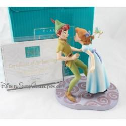 """Seltene Disney WDCC Peter Pan und Wendy """"Ich m So glücklich, ich glaube, ich werde geben Ihnen einen Kuss!"""""""