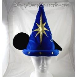 Chapeau Mickey DISNEYLAND PARIS Fantasia bleu étoiles dorées oreilles Mickey Disney 35 cm
