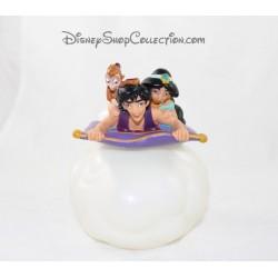 Figurine Aladdin et Jasmine DISNEY flacon de gel douche Aladdin pvc 15 cm