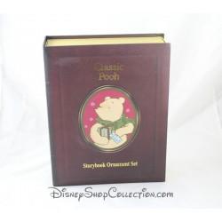 Livre Storybook Classic Pooh DISNEY Christmas Collection set 7 ornements figurines résine Winnie l'Ourson Story book 7 cm