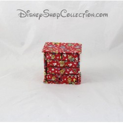 Small chest of drawers for Doll House DISNEY Mickey and friends toy Red 8 cm