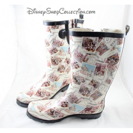 DISNEYLAND PARIS rain boots cards postcards woman size 41