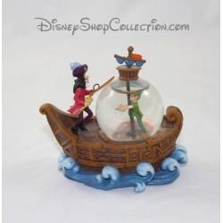 Snowglobe Peter Pan DISNEY bateau Capitaine Crochet boule à neige 11 cm