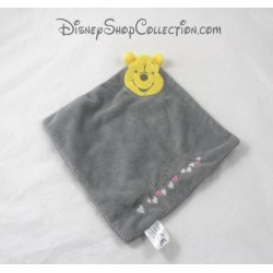 Doudou plat Winnie L'ourson CARTOON CLUB gris coeur Disney 26 cm