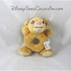 Plush rattle lion Simba DISNEY STORE the Lion King yellow Bell 16 cm