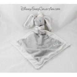 Doudou Dumbo DISNEY NICOTOY éléphant gris blanc écusson 43 cm
