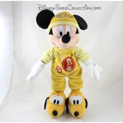 Peluche Mickey DISNEYLAND PARIS pyjama jaune Pluto Disney 40 cm