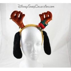 Serre-tête oreilles de Pluto DISNEYLAND PARIS Merry Christmas renne cerf 30 cm