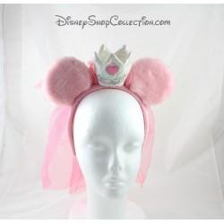 Serre-tête Minnie DISNEYLAND PARIS oreilles rose couronne et voile de mariée