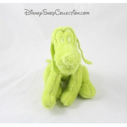 Peluche chien Pluto DISNEY NICOTOY vert fluo 18 cm