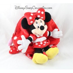 Backpack stuffed Minnie DISNEYLAND PARIS red peas 30 cm white