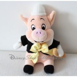 Peluche Nouf Nouf DISNEY STORE Les 3 petits cochons jaune avec flûte