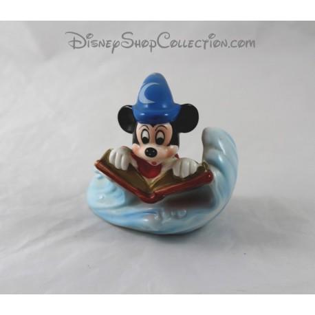 Figurine céramique souris Mickey DISNEY Fantasia livre 11 cm