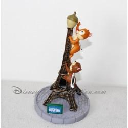 Figurine résine Tic et Tac DISNEYLAND PARIS Tour Eiffel gland