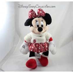 Peluche Minnie DISNEY STORE celebra fiesta Navidad falda lana 2015 43 cm