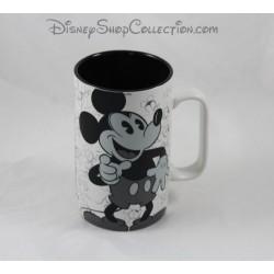 Mate taza Mickey DISNEYLAND PARIS blanco y negro taza cerámica Disney 14 cm