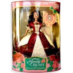 Belle DISNEY MATTEL Beauty and the Beast Princess Holiday Princess doll