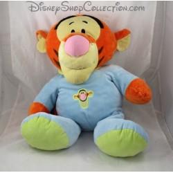 Peluche Tigrou NICOTOY pyjama bleu vert bébé Disney 40 cm
