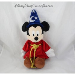 Peluche Mickey DISNEYLAND PARIS Fantasia chapeau magicien bleu Disney 40 cm