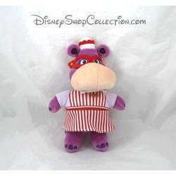 Peluche Hallie l'hippopotame DISNEY STORE Docteur la peluche violet 22 cm
